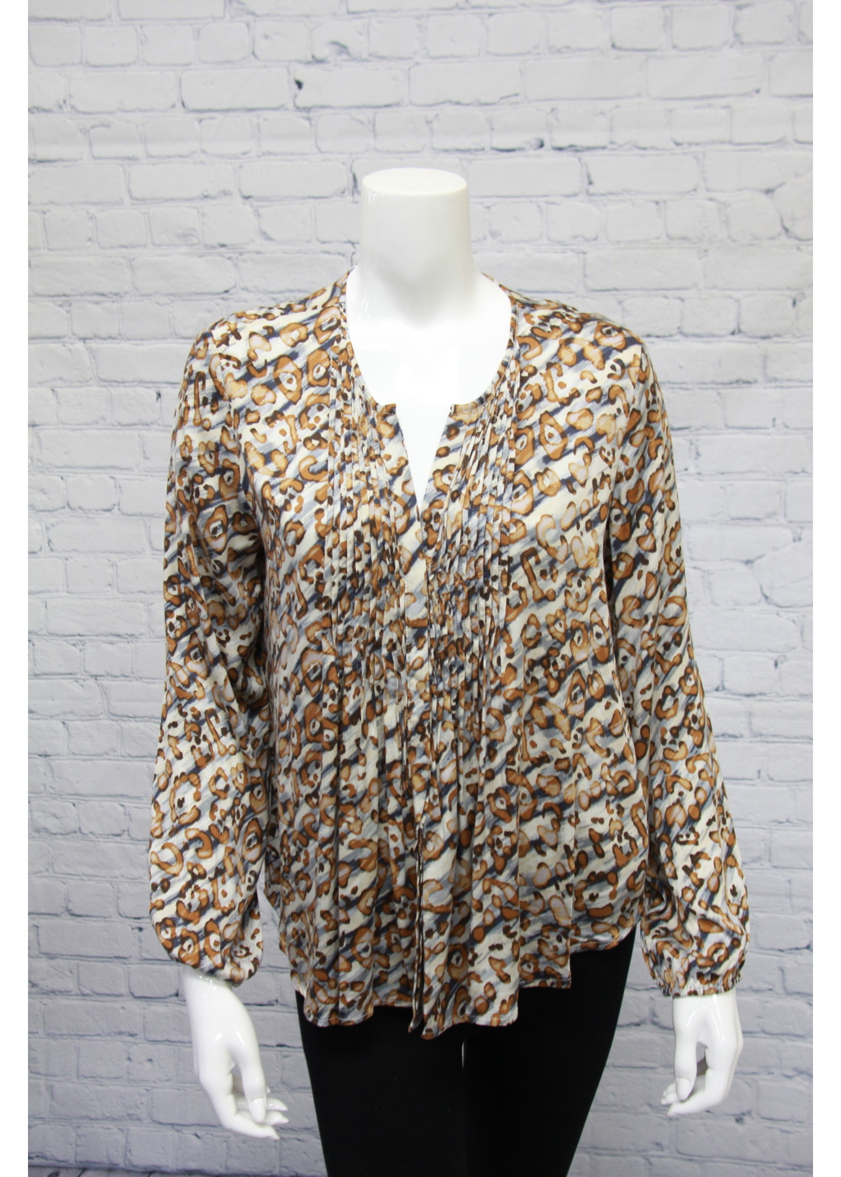 Tribal Blouse With Pleats