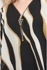 Joseph Ribkoff Black & Gold Top