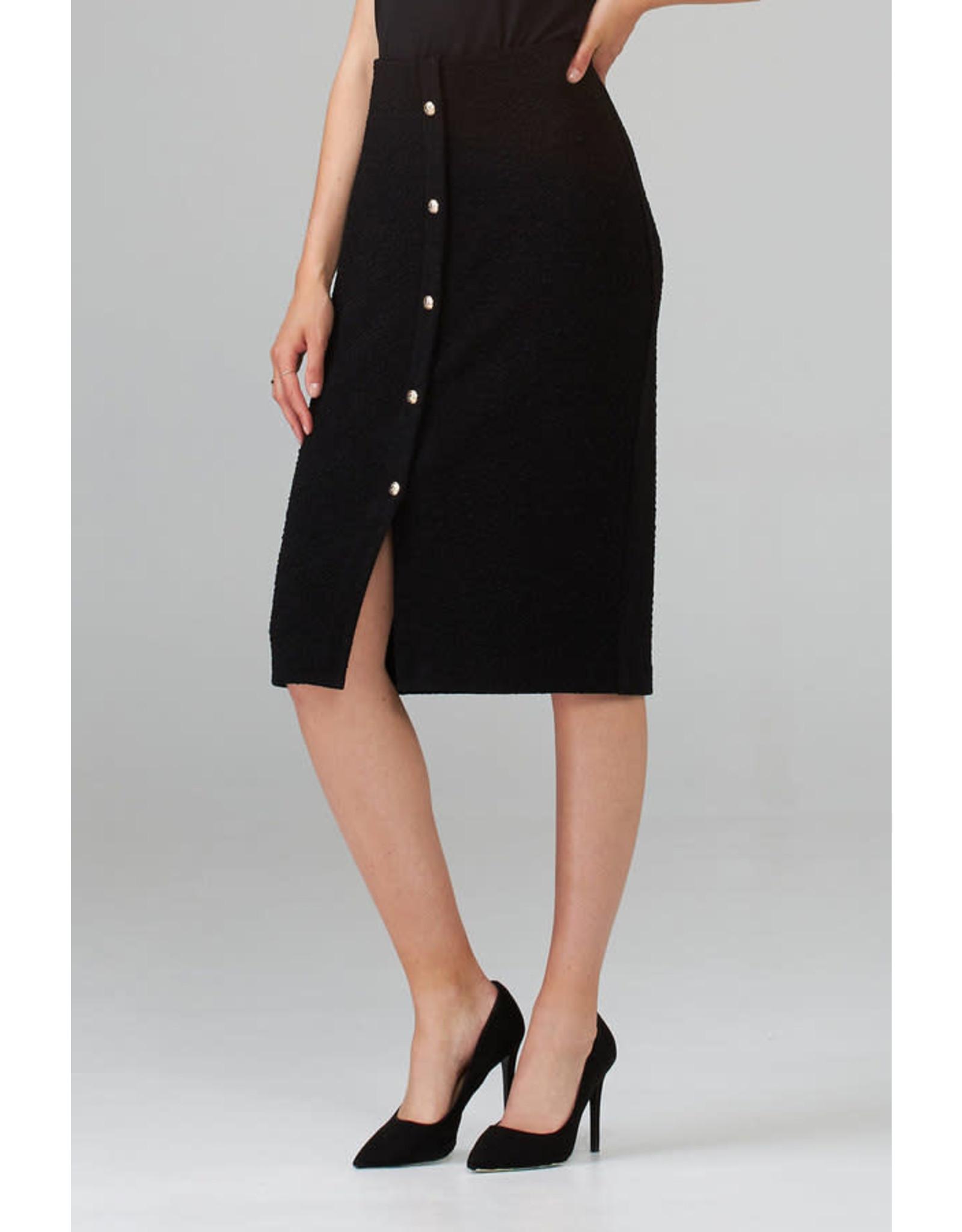 Joseph Ribkoff Black Boucle Skirt