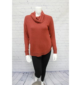 Tribal Cowl Neck Top With Shirttail : 2 Colors