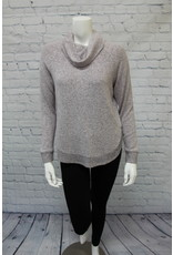 Tribal Cowl Neck Top With Shirttail