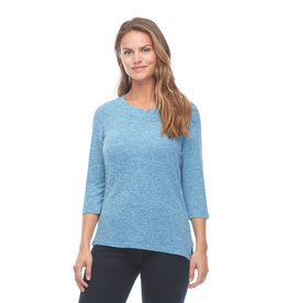 FDJ Notched Boat Neck Top