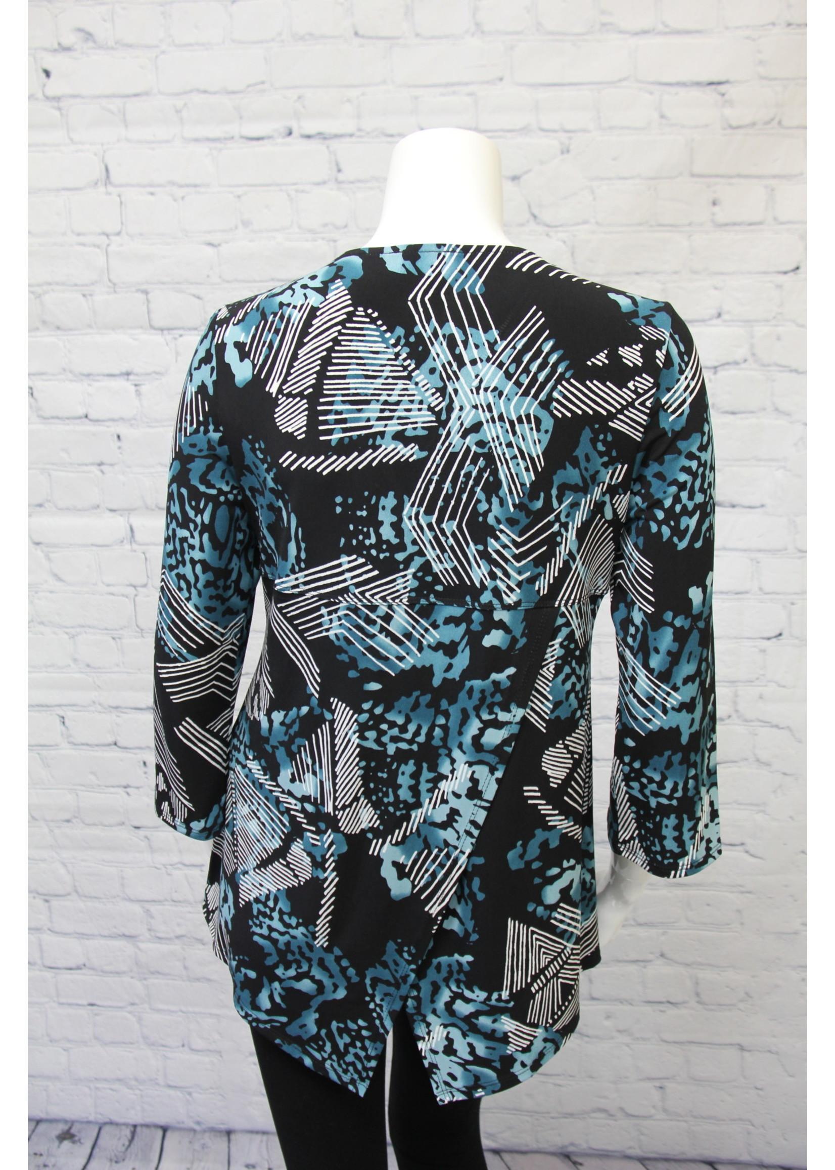 Bali Black/Teal Top