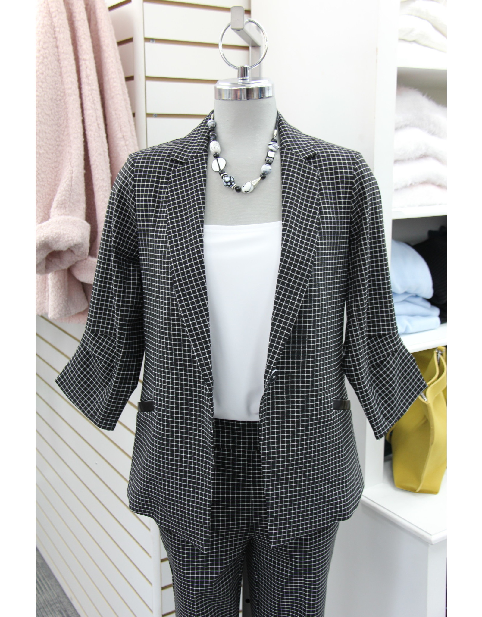 Renuar 3/4 Sleeve Jacket Small Check