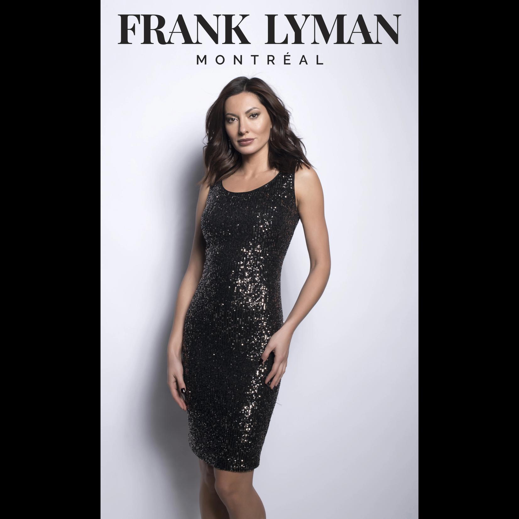Frank Lyman Bronze/Black Woven Sequin Dress