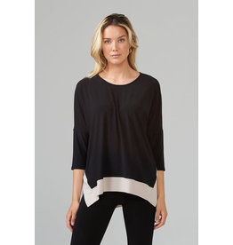 Joseph Ribkoff Black & Sand Top