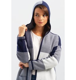 Charlie B Color Block Cardigan With Hood 2 Colors!