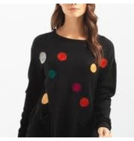Charlie B Round Punch Design Sweater 2 Colours