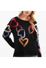 Charlie B Long Sleeve Big Heart Sweater
