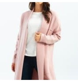 Charlie B Long Cardigan With Patch Pockets