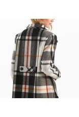 Charlie B Long Sleeved Lined Plaid Outerwear