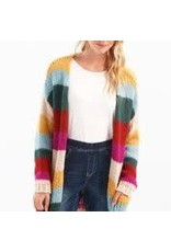 Charlie B Striped Cardigan With Pockets