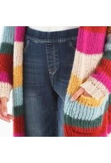 Charlie B Striped Cardigan With Pockets