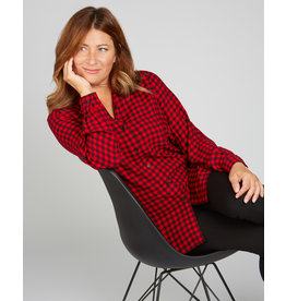 Renuar Buffalo Plaid Blouse