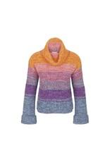 Tribal Multi Coloured Cowl Neck Sweater