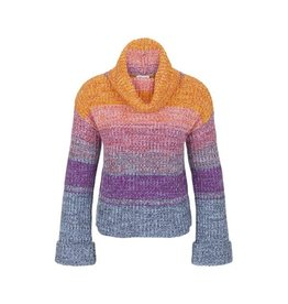 Tribal Multi Coloured Cowl Neck Sweater