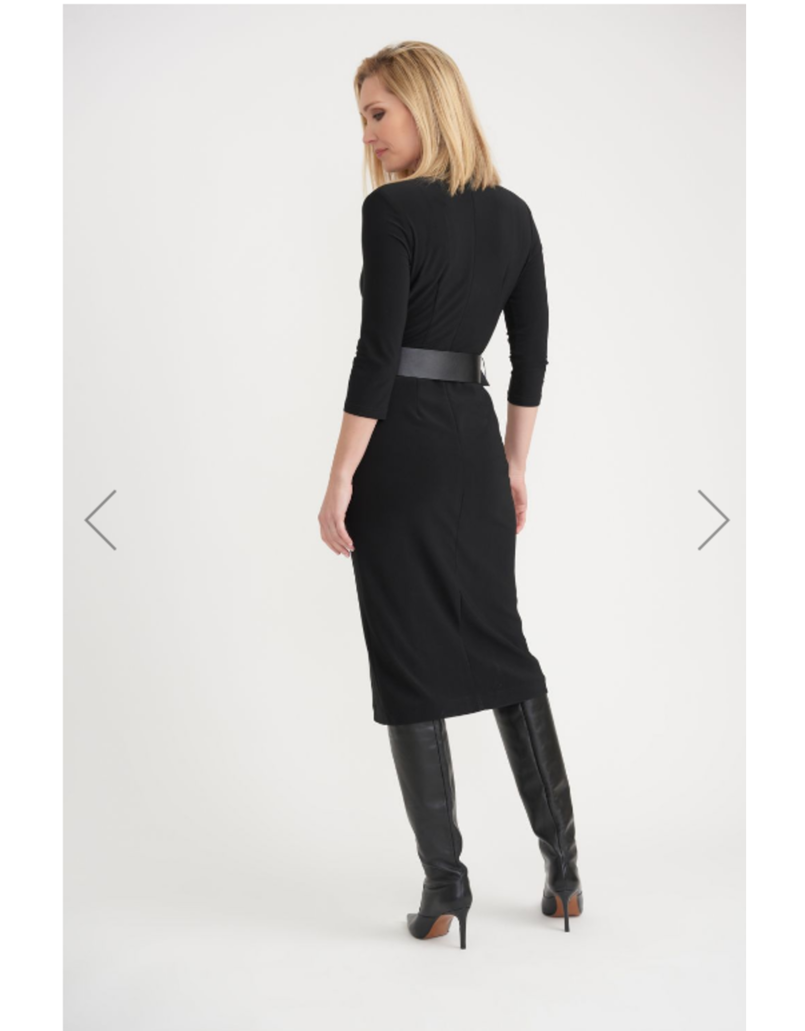 Joseph Ribkoff Black Dress With Belt