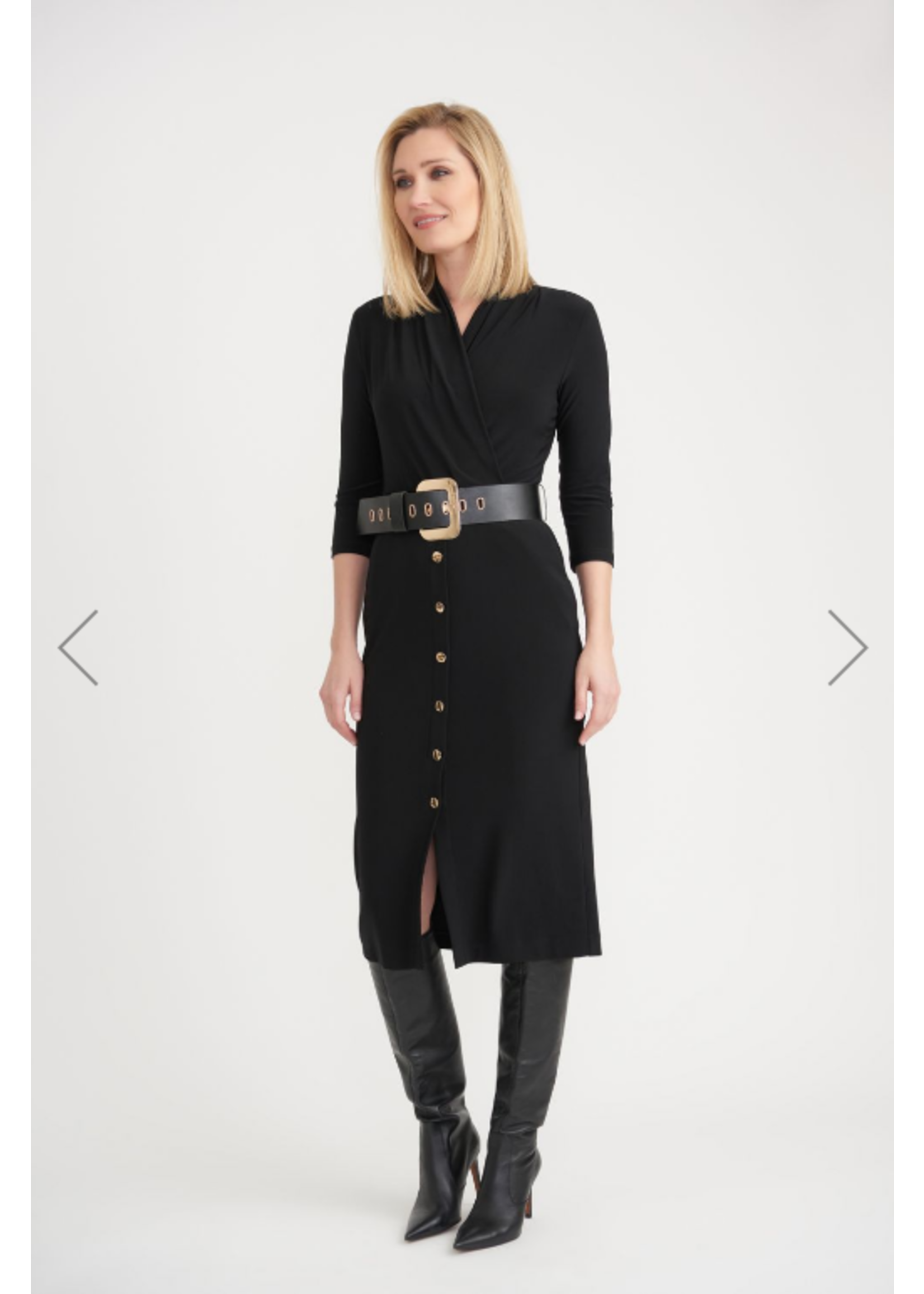 Joseph Ribkoff Black Dress With Belt