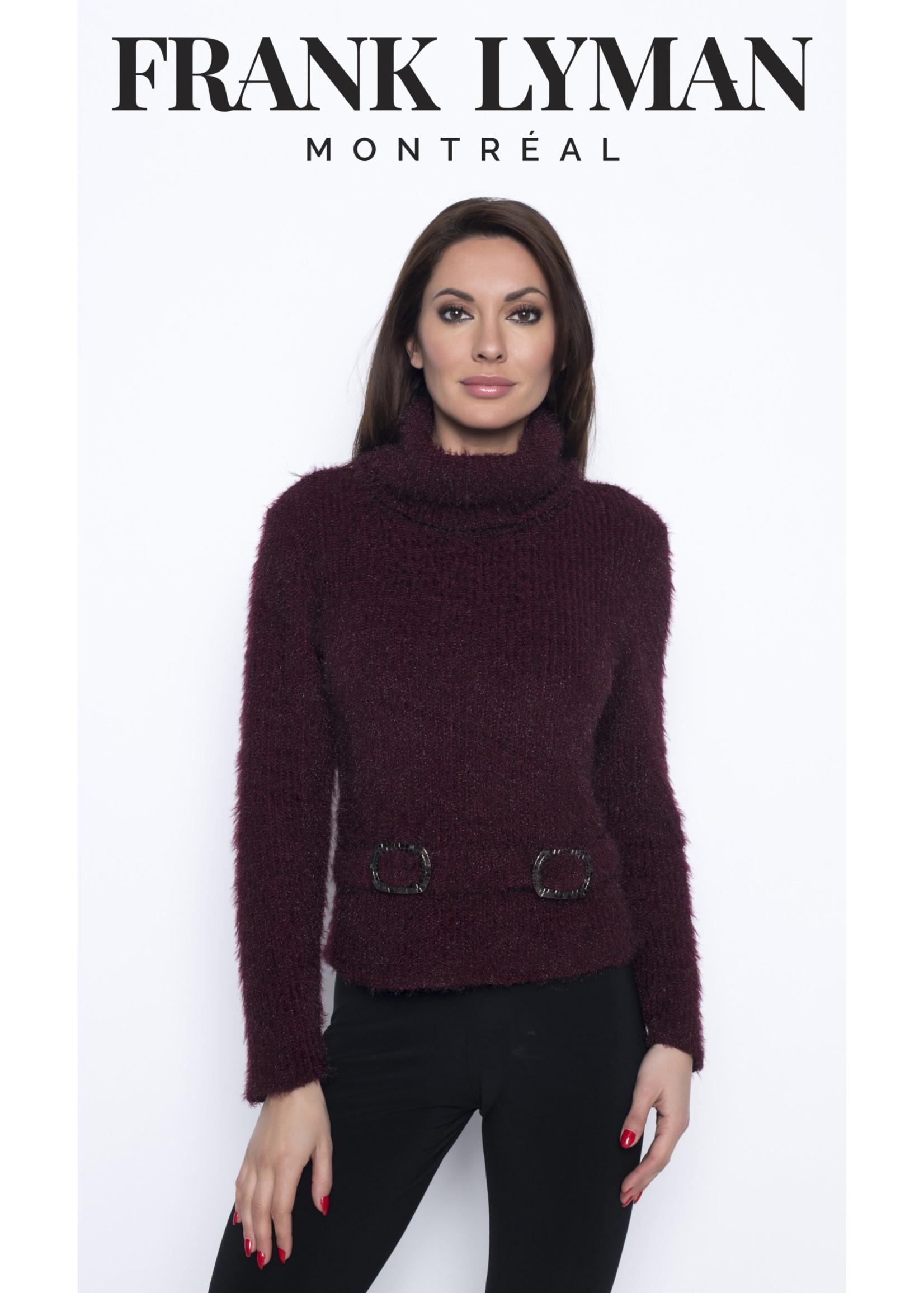 Frank Lyman Bordeaux Sweater