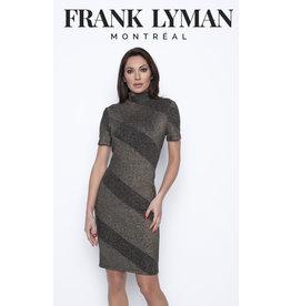 Frank Lyman Black & Gold Knit Dress
