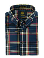 Viyella Blue Plaid Shirt 20% Wool