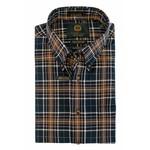 Viyella Navy & Brown Plaid 20% Wool