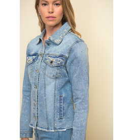 Joseph Ribkoff Sequinned Jean Jacket