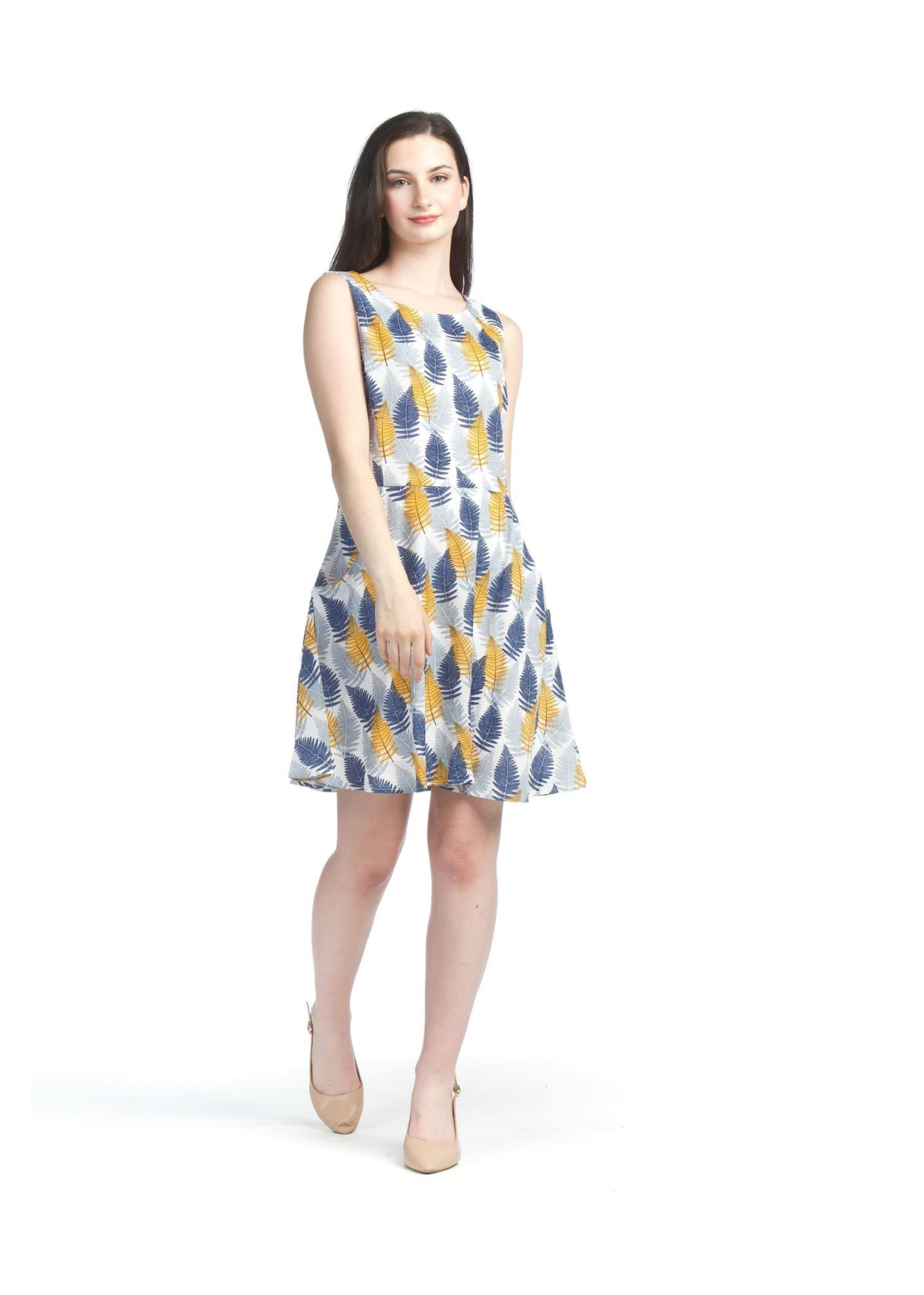Papillon Feather Dress With Pockets