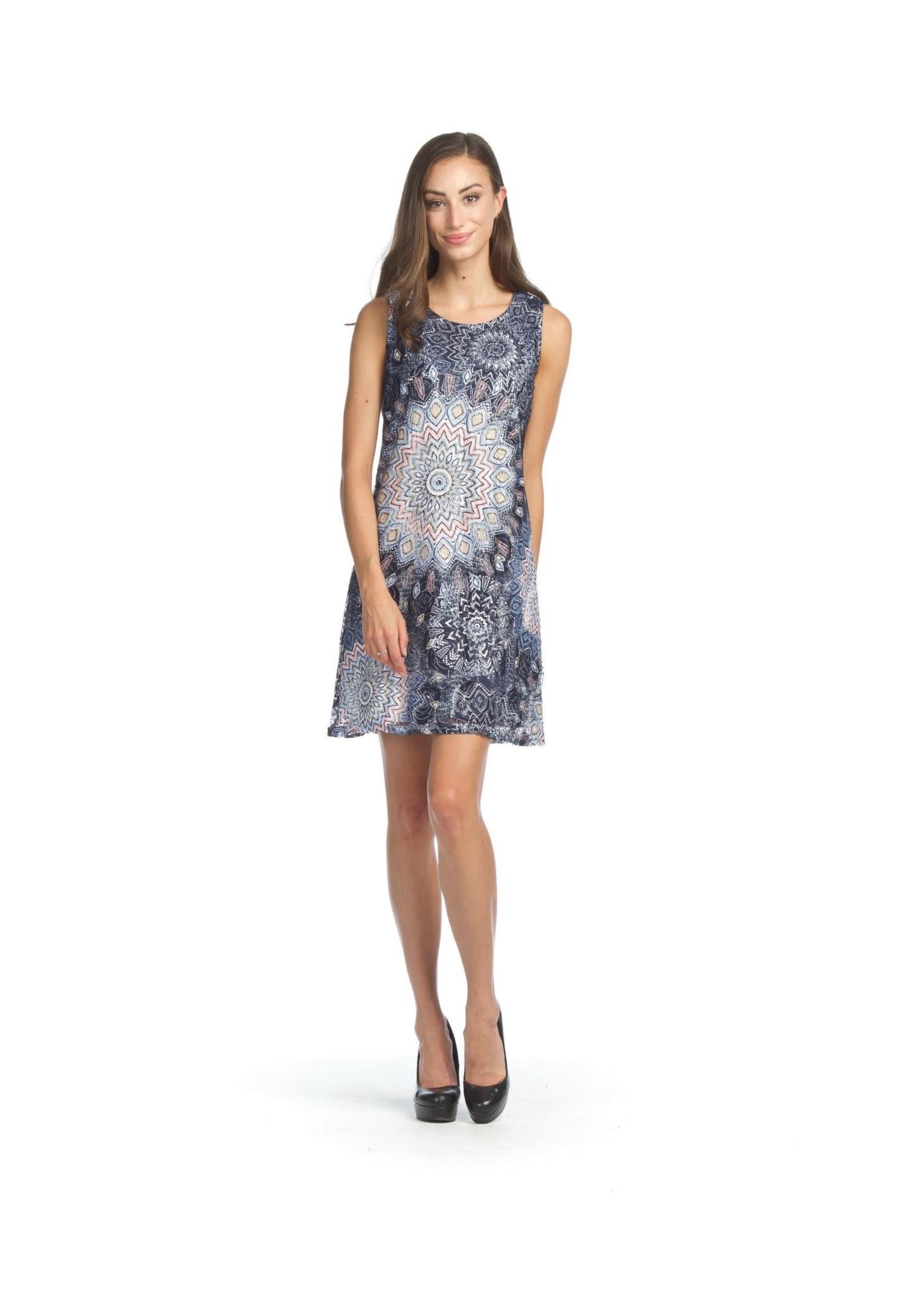 Papillon Mandala Lace Shift Dress With Stretch