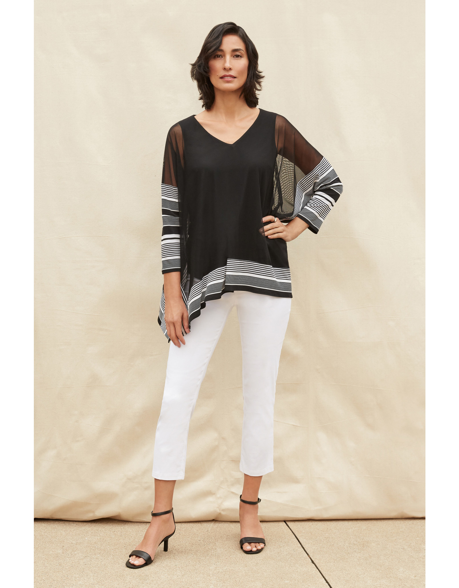Joseph Ribkoff Black & White Tunic