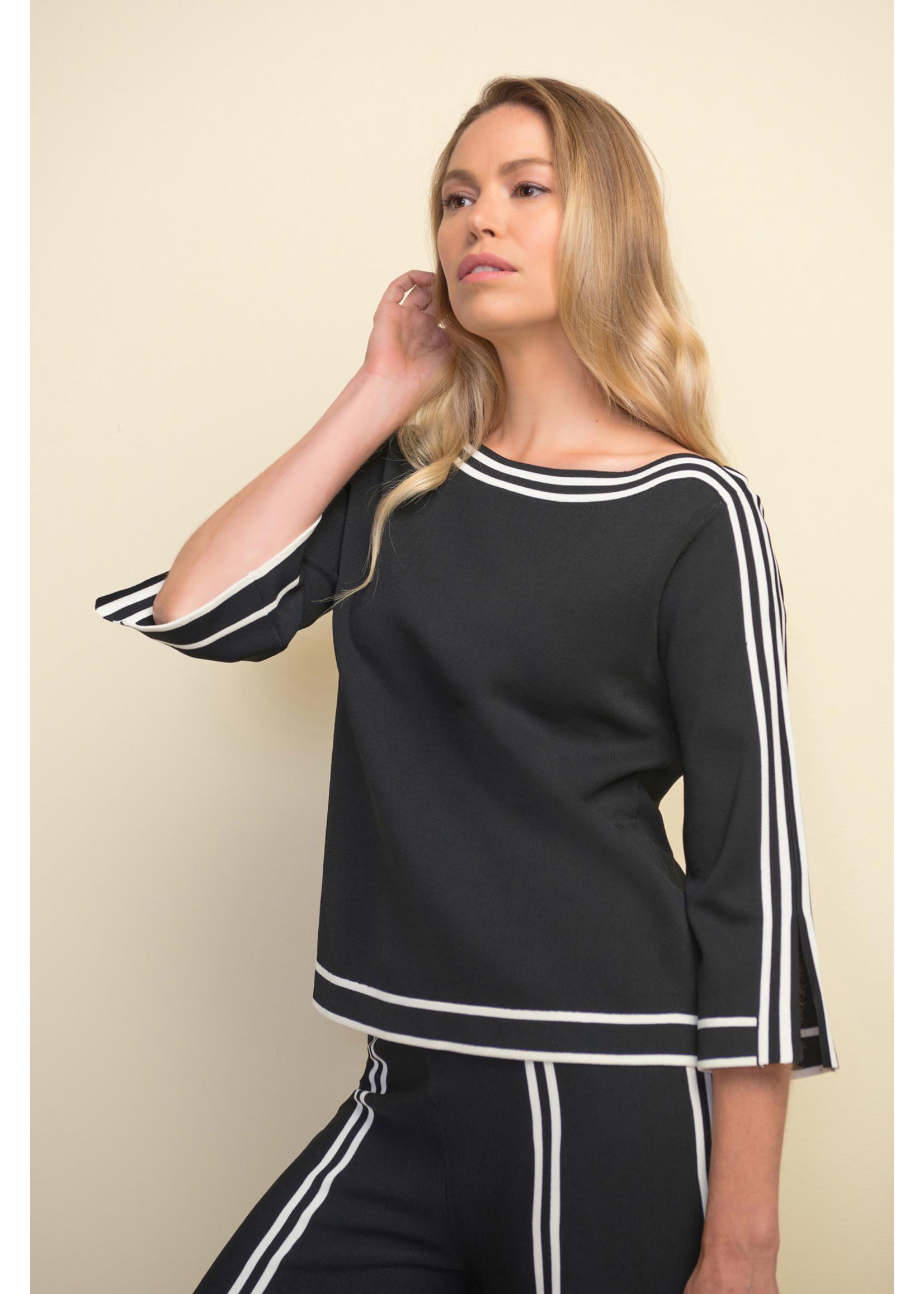 Joseph Ribkoff Black & Vanilla Sweater