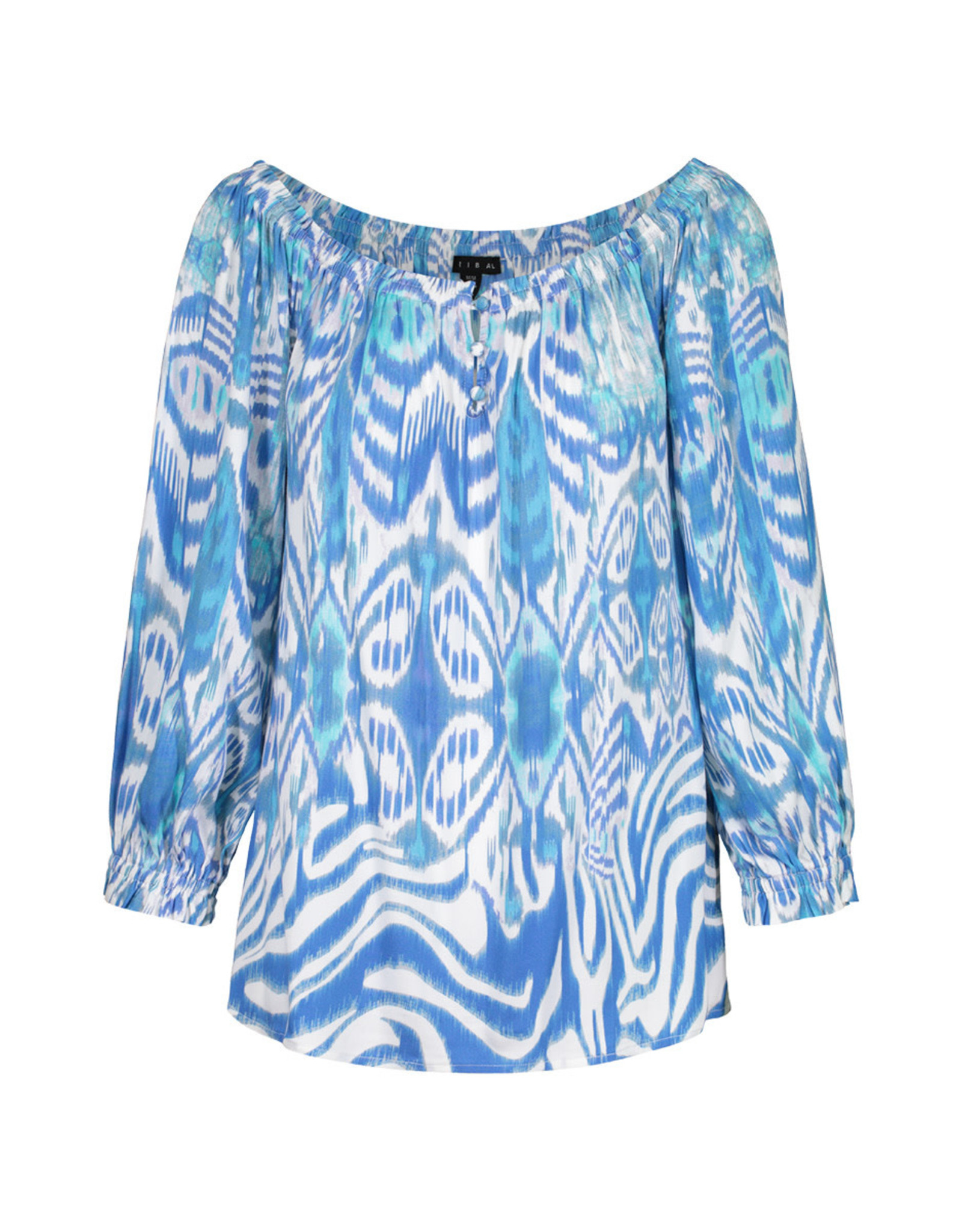 Tribal On/Off Shoulder Blouse