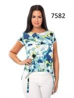 Bali Printed Short Sleeve Top