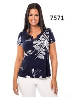 Bali Printed Notch Collar Shirt