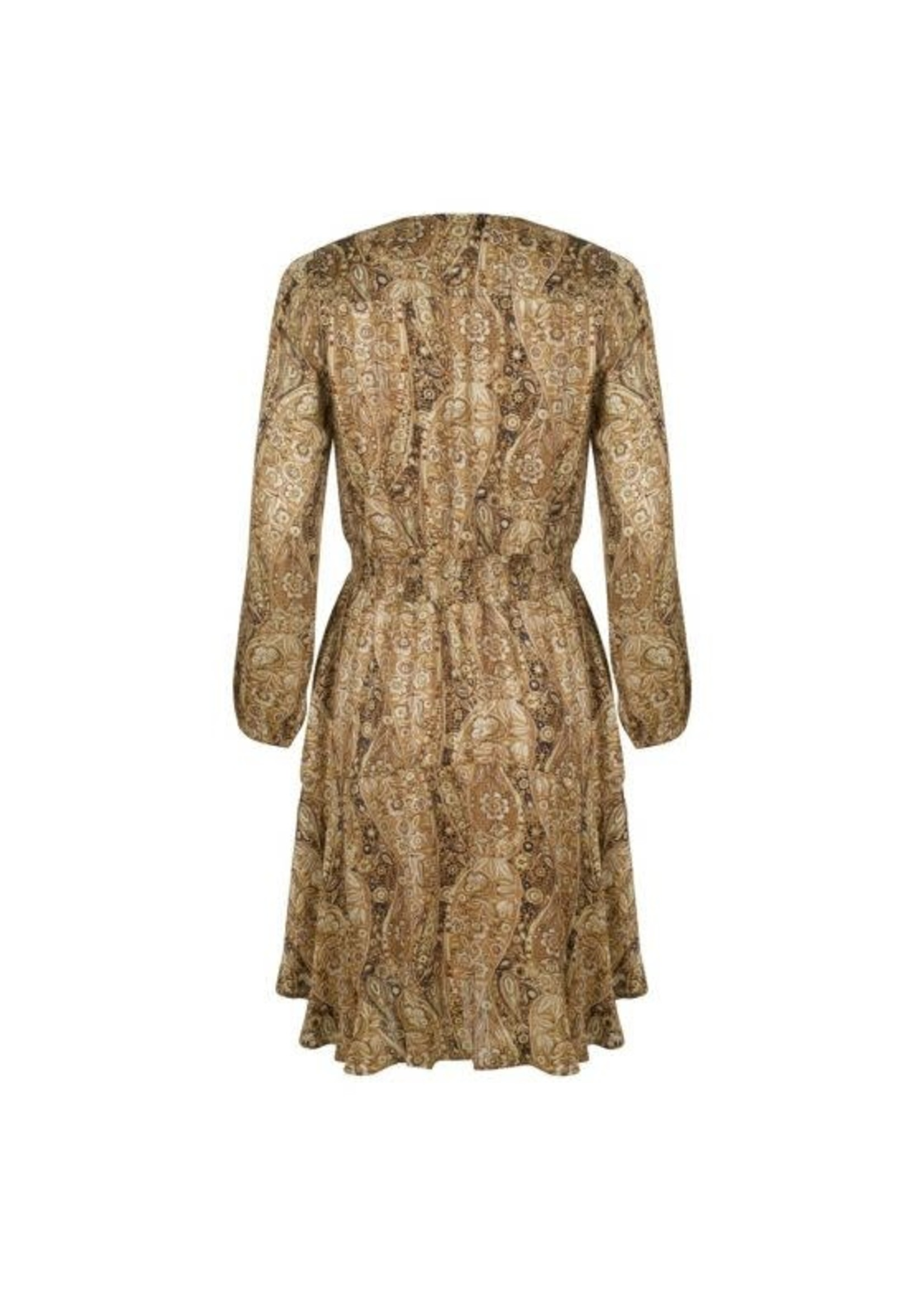 Esqualo Brown Paisley Dress