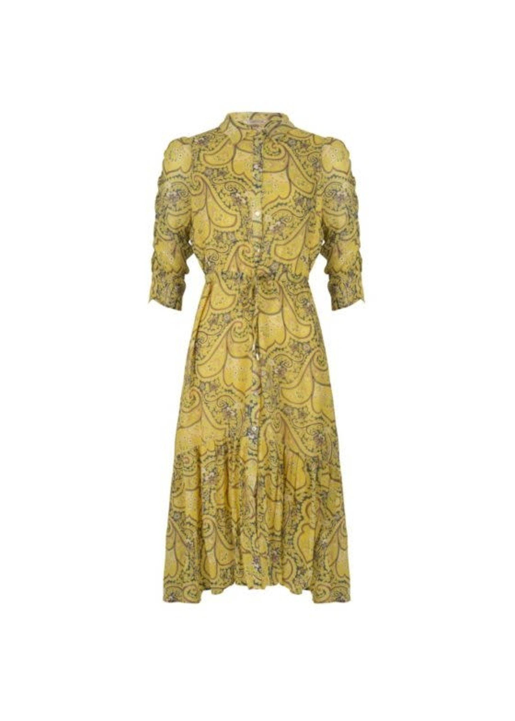 Esqualo Long Paisley Print Dress