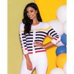 Elena Wang Multi Stripe Sweater