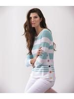 Alison Sheri AQUA Stripe Sweater