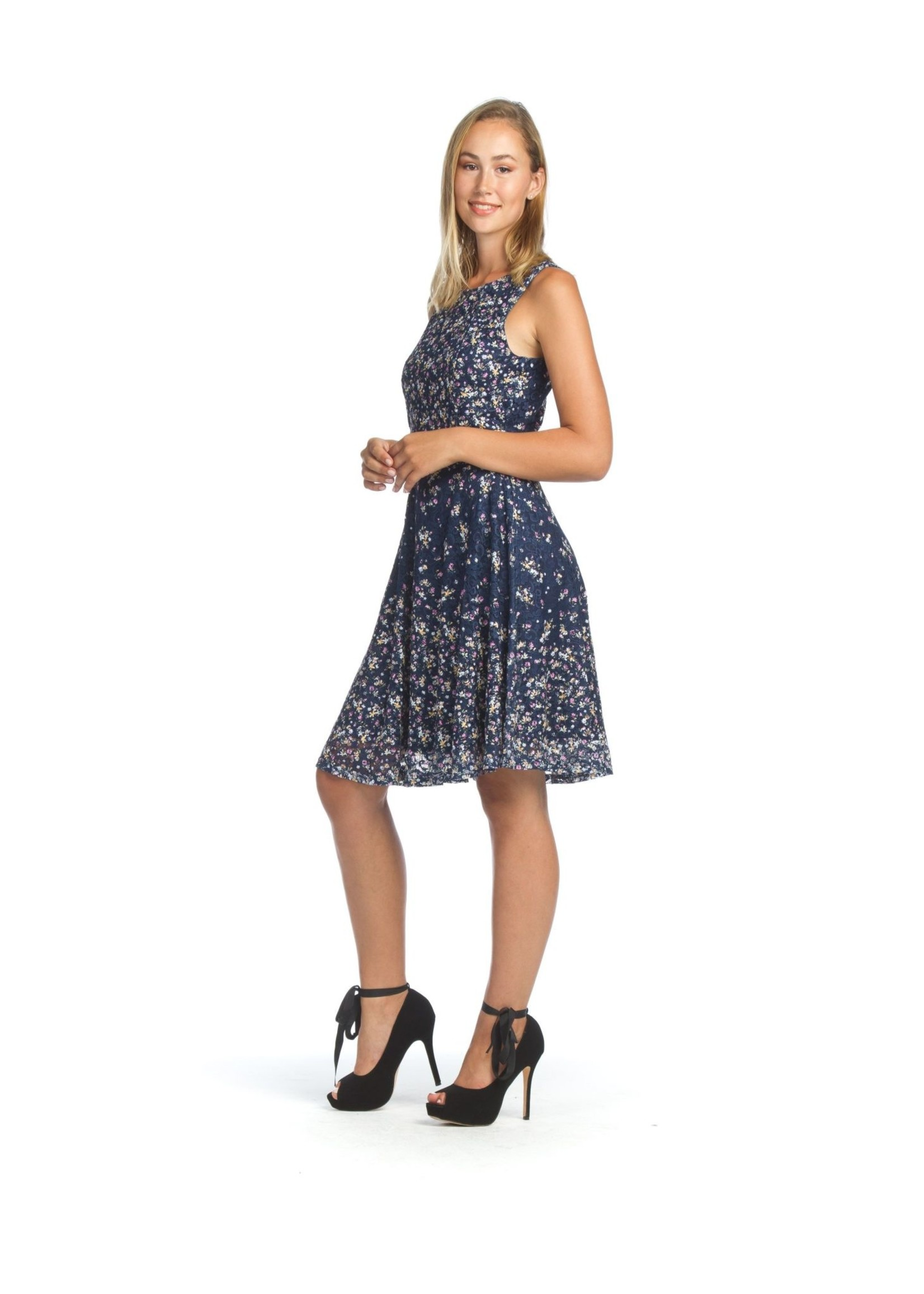 Papillon Ditsy Floral Lace Fit N Flair Dress