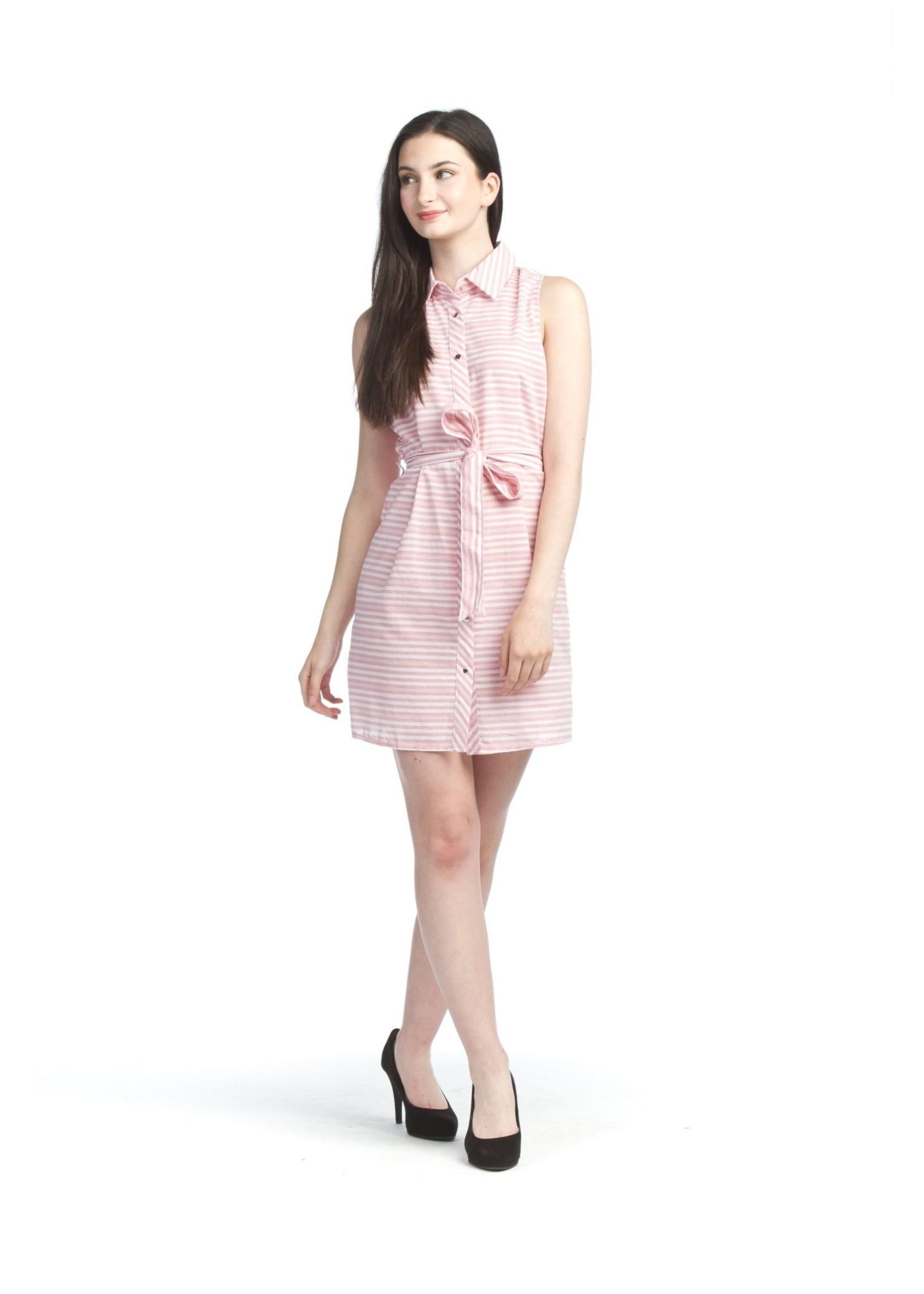 Papillon Cotton Blend Pink Dress