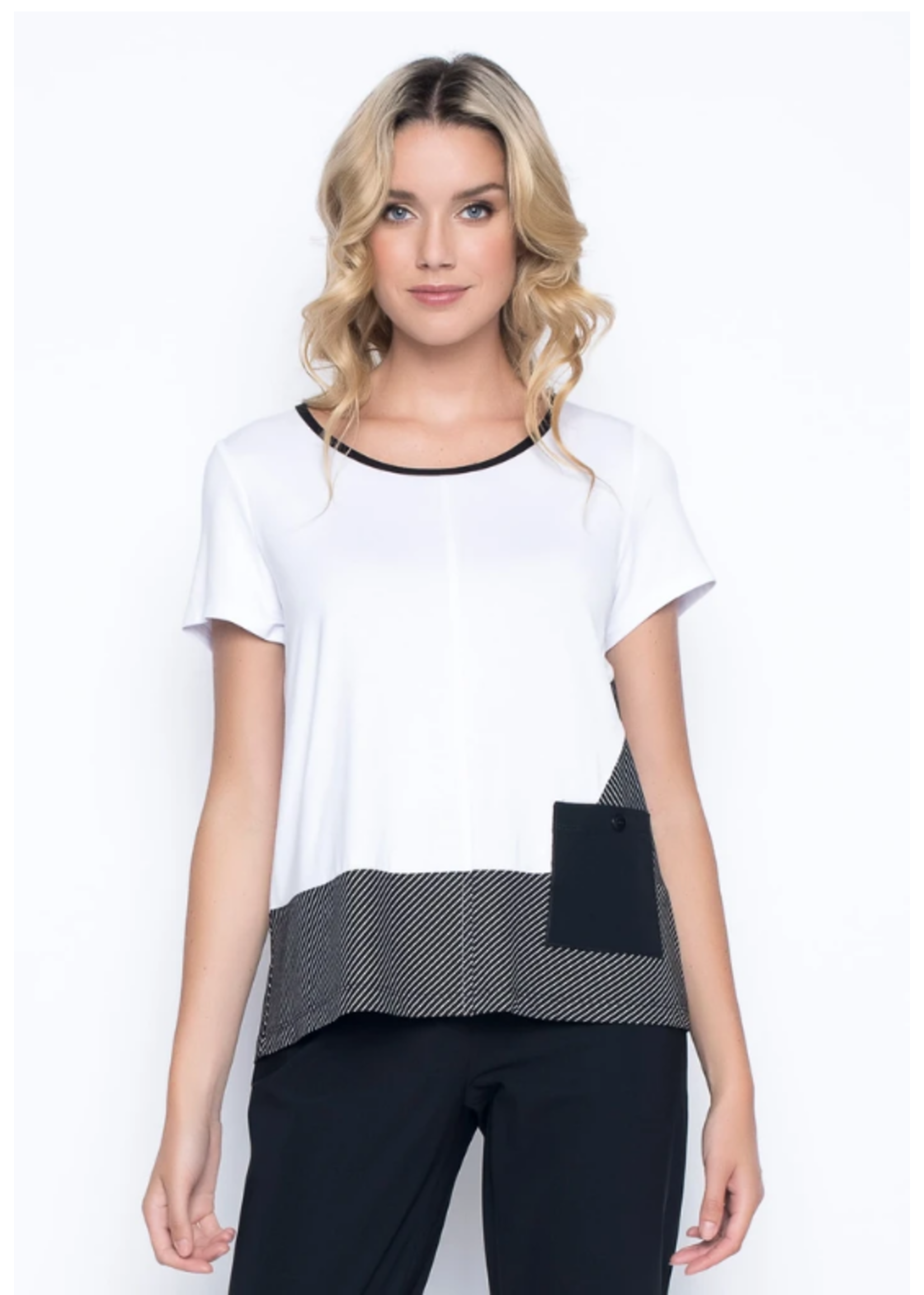 Picadilly Short Sleeve Top With Pocket