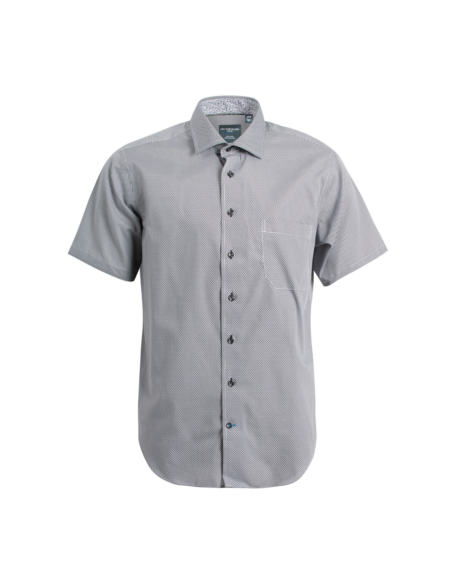Leo Chevalier 100% Cotton Non Iron Button Down Short Sleeve