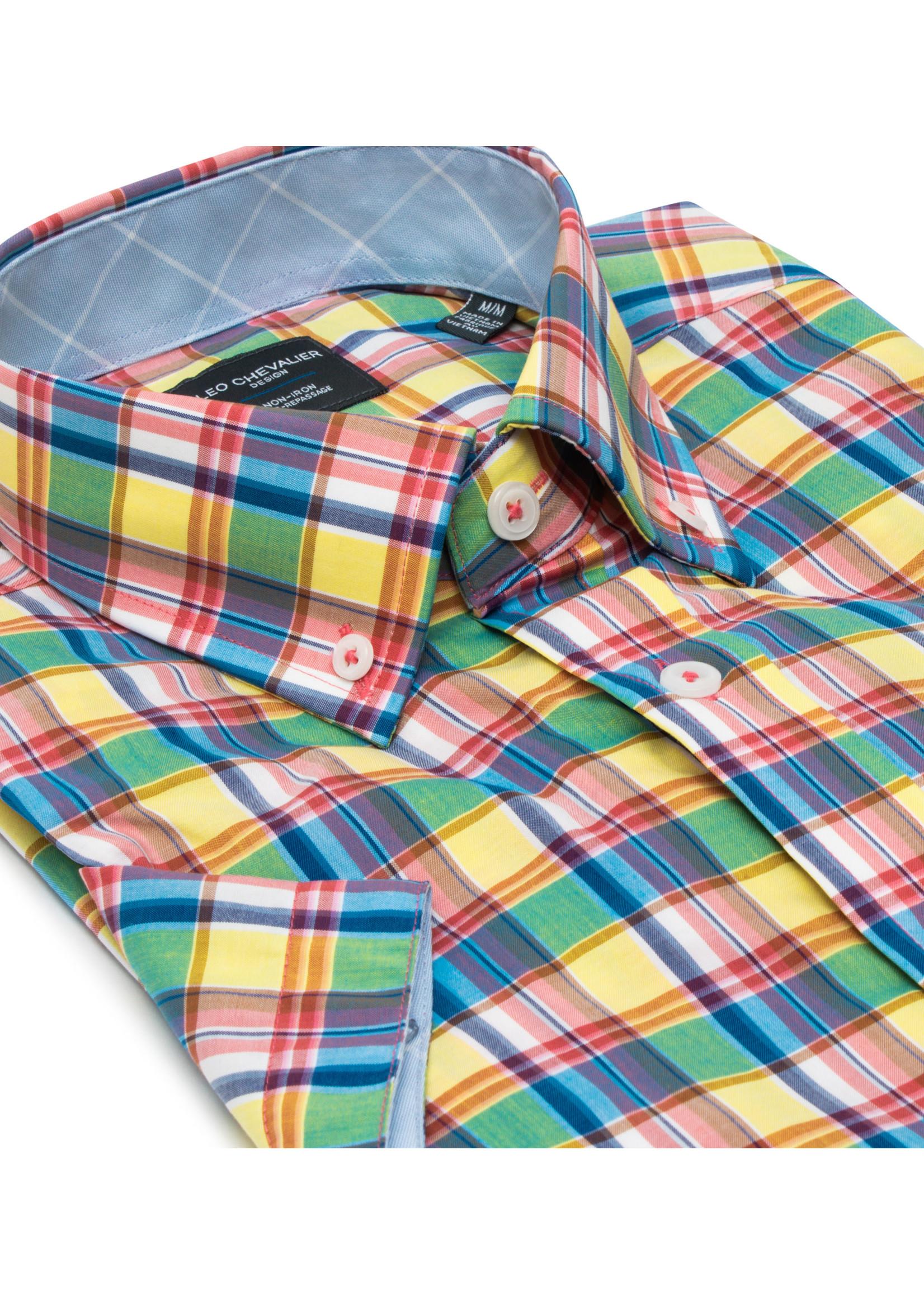 Leo Chevalier 100% Cotton Non Iron Short Sleeve Button Down