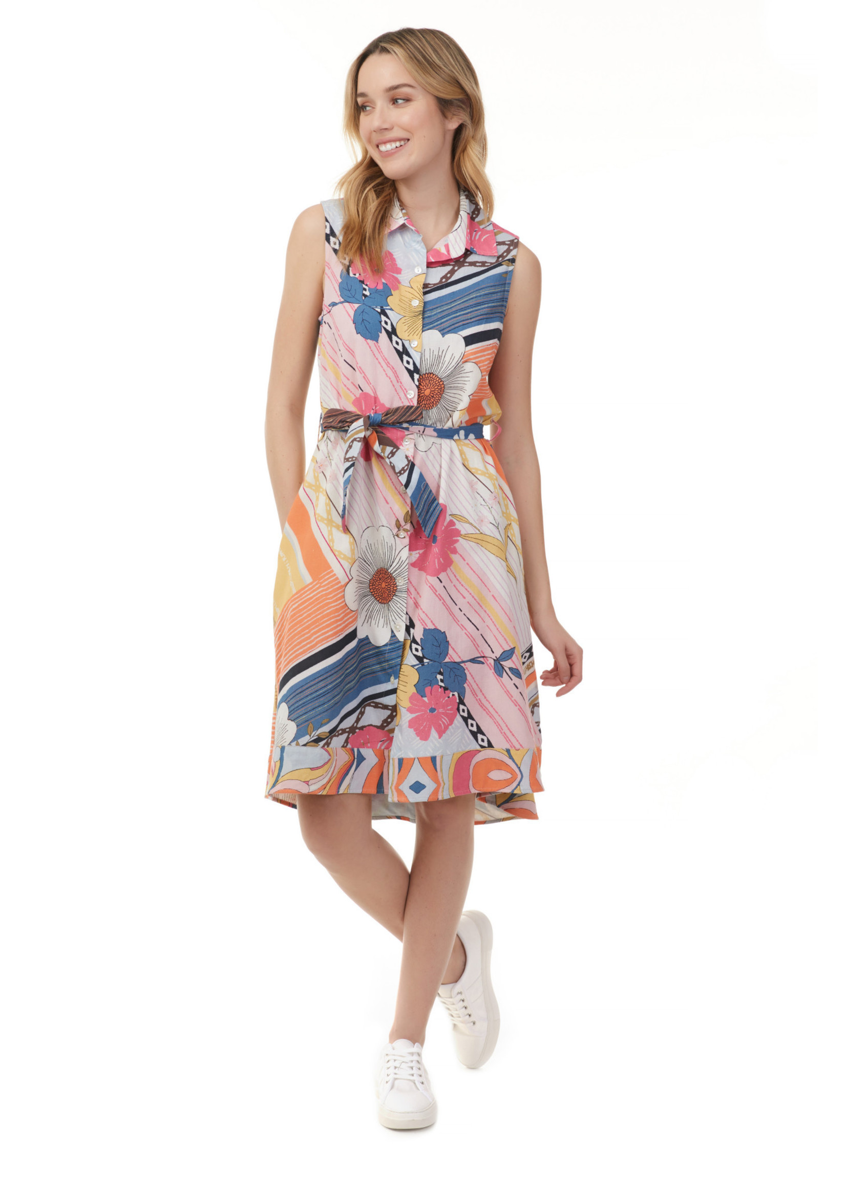 Charlie B Printed Cotton Dress