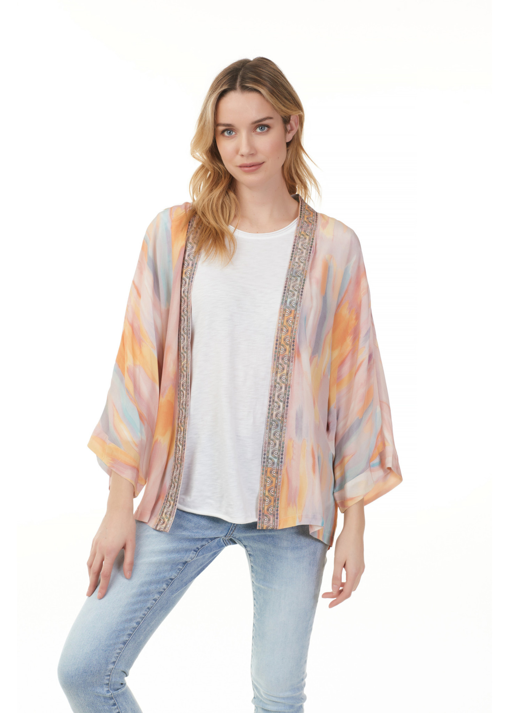 Charlie B Kimono With Embroidery Tape