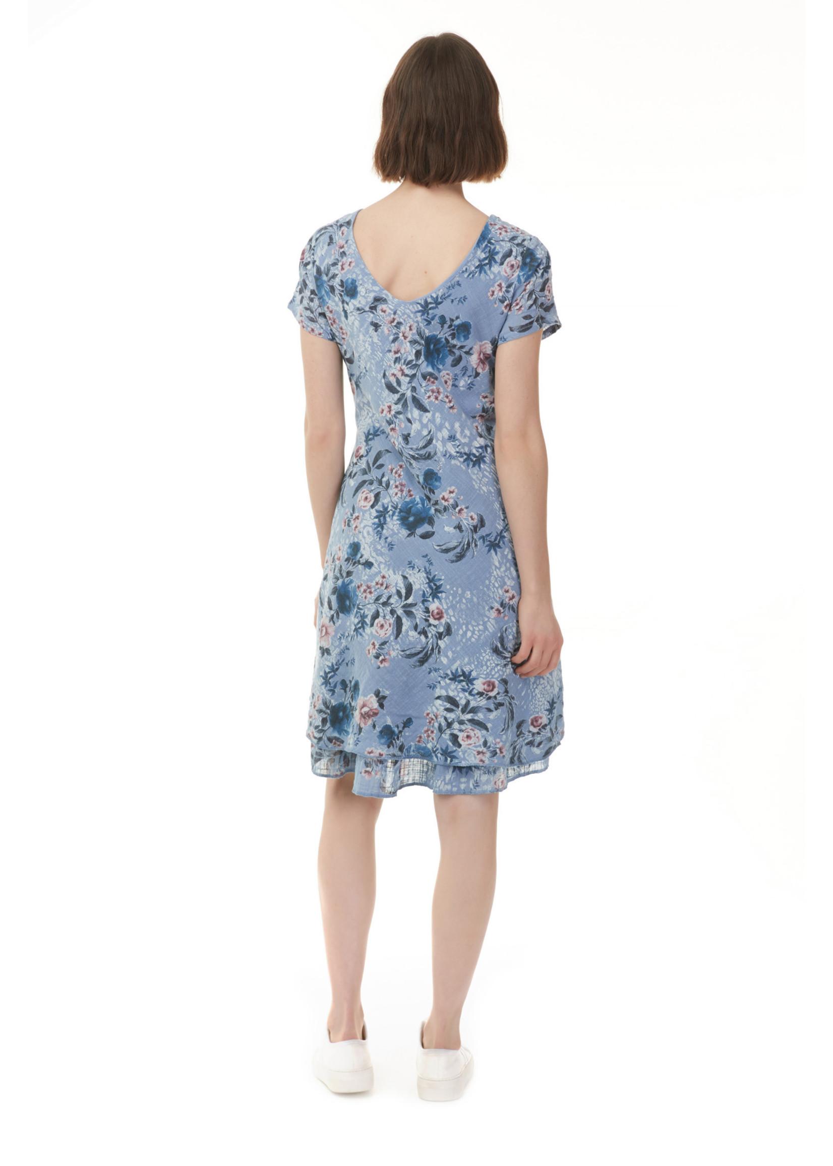 Charlie B Cap Sleeve Printed Dress