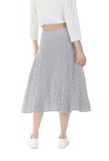 Charlie B Striped Belted Linen Skirt