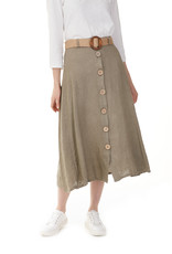 Charlie B Solid Linen Blend Skirt