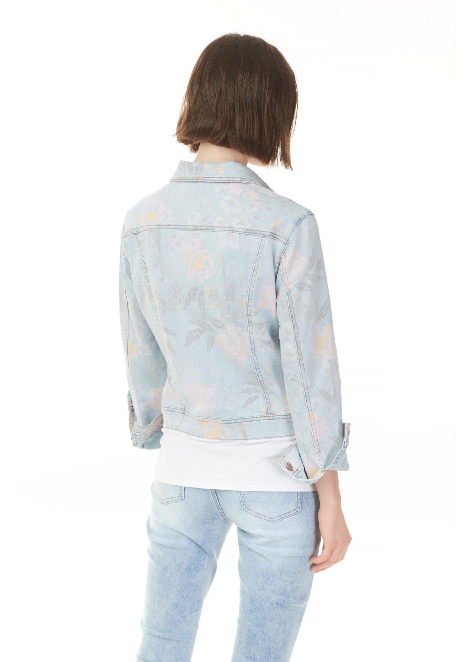 Charlie B Printed Jean Jacket Sorbet