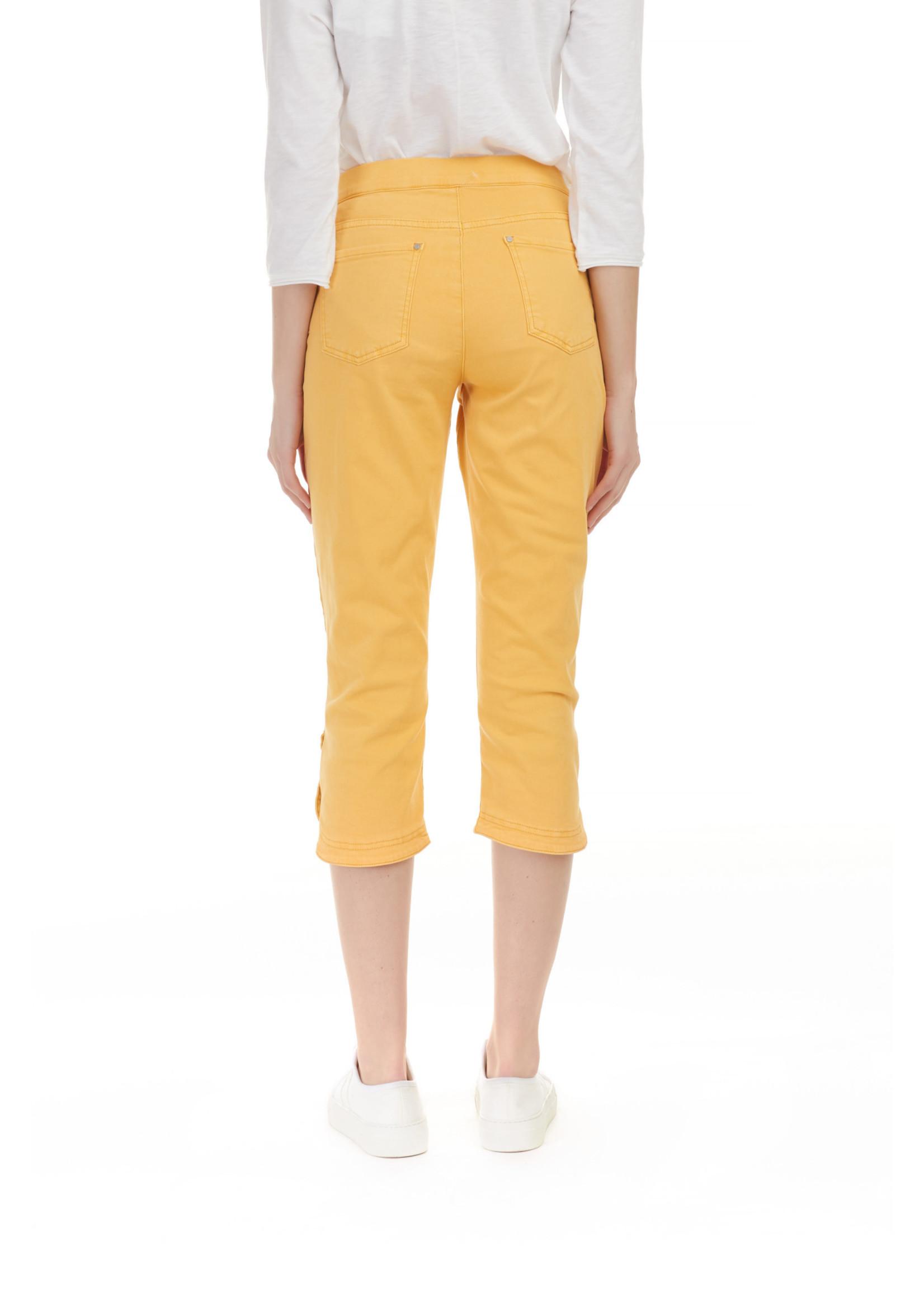 Charlie B Cropped Twill Pants Marigold